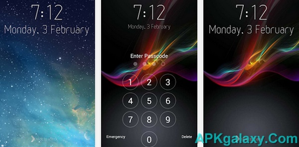 Best Themes Live Wallpapers For Iphone 5s 5c 4s 4 Ios 7: IPhone 5s Ios7 Lock Screen V1.2 Apk