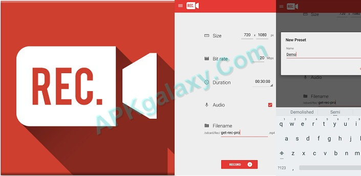 Rec  Pro (Screen Recorder) v1 8 3 Apk | APKgalaxy
