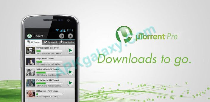 utorrent pro version free download apk