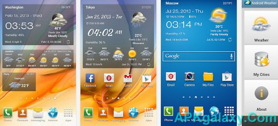 Android_Weather_Clock_Widget