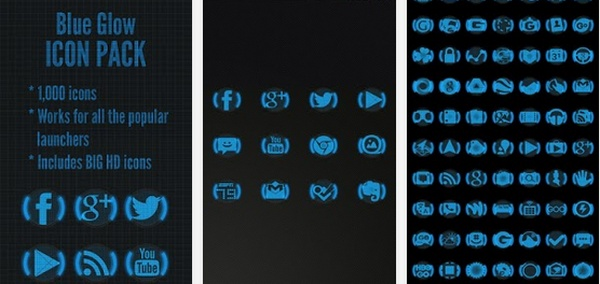 Icon Pack Blue Glow