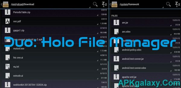 Duo Holo File Managers