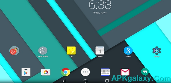 Android L Launcher Theme
