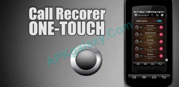 Call Recorder One Touch Full Apk
