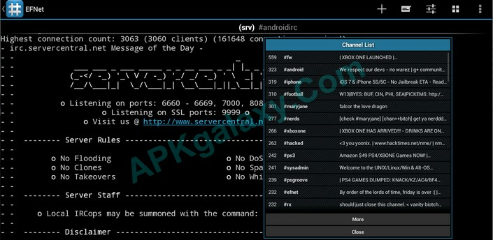 IRC for Android Apk