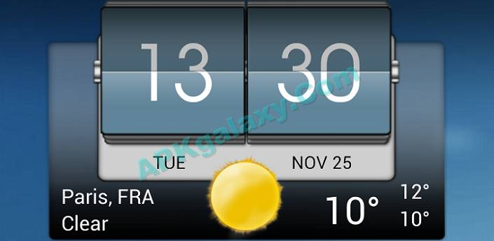 3D Flip Clock & World Weather Apk