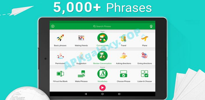 Learn English Phrasebook – 5000 Phrases Apk