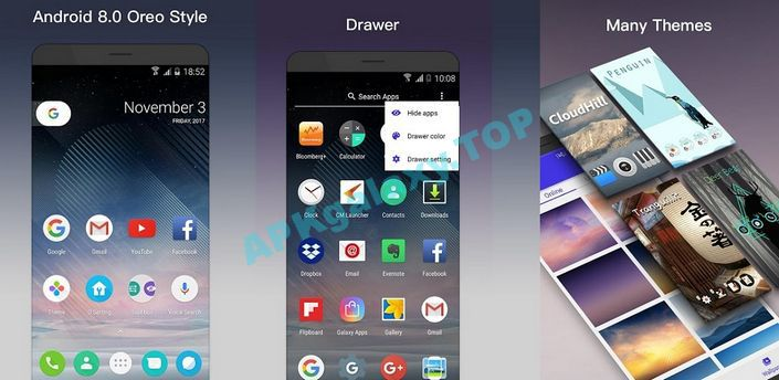 O Launcher 8.0 for Android O Oreo Launcher Apk