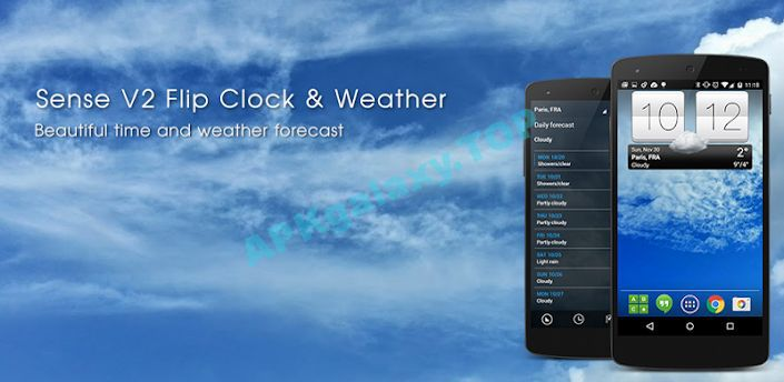 Sense V2 Flip Clock & Weather Premium