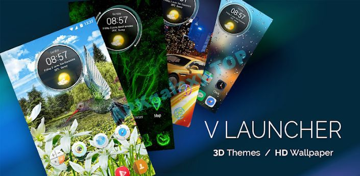 V Launcher- 3D Theme & HD Wallpaper Apk