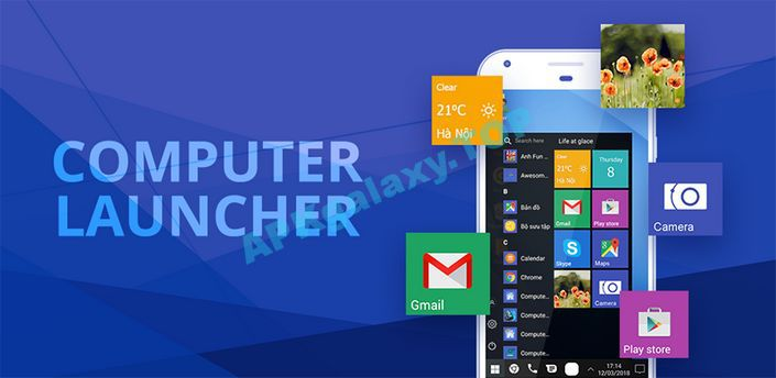 Computer launcher PRO 2018 for Win 10 themes Apk