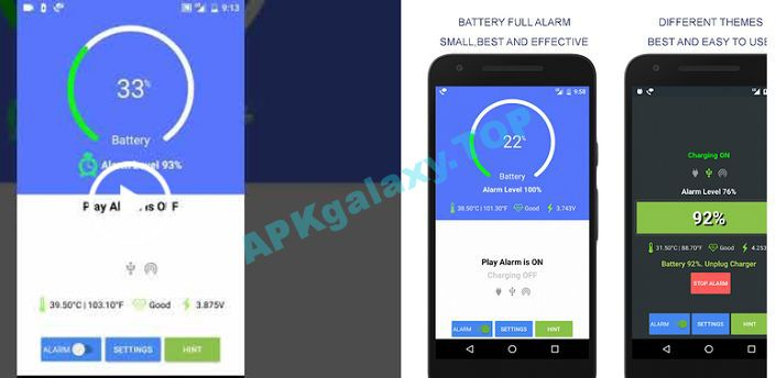 Battery Full Alarm and Battery Low Alarm Apk