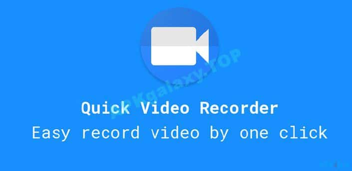 Quick Video Recorder - Background Video Recorder Pro