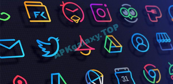LineX Icon Pack Apk