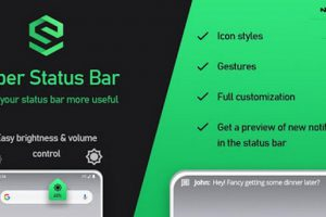 Super Status Bar – Gestures, Notifications & more Apk