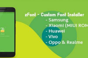 zFont – Custom Font Installer Apk