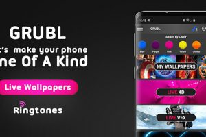 GRUBL Live Wallpapers 4K and Ringtones Premium Apk